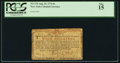 Colonial Notes:New York, New York August 25, 1774 (Water Works) 4s PCGS Fine 15.. ...