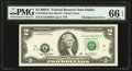 Error Notes:Shifted Third Printing, Shifted Black Portion of Third Printing Error Fr. 1938-K $2 2003A Federal Reserve Note. PMG Gem Uncirculated 66 EPQ.. ...