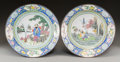 Asian:Chinese, A Pair of Chinese Peking Enameled Plates. 2-1/2 inches high x10-1/2 inches diameter (6.4 x 26.7 cm). ... (Total: 2 Items)