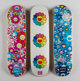 Takashi Murakami X Complexcon Multi Flower 8.0 Skate Decks (Blue, Pink, and White) (three works), 2017 Screenprints i...