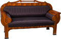Furniture : Continental, A Biedermeier Sofa with Cornucopia Motif, Prague, circa 1825.42-3/4 h x 74-1/2 w x 25-1/2 d inches (108.6 x 189.2 x 64.8 cm...