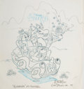 Animation Art:Production Drawing, The Wuzzles Publicity Original Art Group of 3 (Walt Disney,1985). ... (Total: 3 Items)