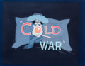 Animation Art:Painted cel background, Cold War Title Card Original Painted Art (Walt Disney,1951). ...