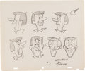 animation art:Model Sheet, The Jetsons George Jetson Model Sheet Original Art(Hanna-Barbera, 1962). ...