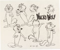 animation art:Model Sheet, Hokey Wolf Model Sheet Original Art (Hanna-Barbera, 1960). ...