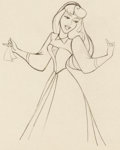 Animation Art:Production Drawing, Sleeping Beauty Briar Rose Animation Drawing (Walt Disney,1959). ...
