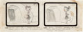 Animation Art:Production Drawing, The Flintstones Early Storyboard Drawing (Hanna-Barbera,1960). ...