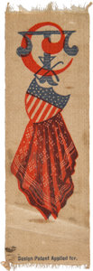 Political:Ribbons & Badges, Grover Cleveland: Unusual Silk Ribbon....