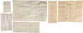Western Expansion:Cowboy, Three 1867-1872 Indian Wars Cavalry Muster Rolls. ...