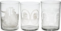 Political:3D & Other Display (pre-1896), Benjamin Harrison et al: Extensive Collection of Glass Tumblers....