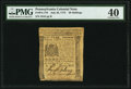 Colonial Notes:Pennsylvania, Pennsylvania July 20, 1775 20s PMG Extremely Fine 40.. ...