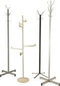 Decorative Arts, Continental, A Group of Four Coat Racks, 20th century. 71-1/2 inches high (181.6cm) (tallest pair). ... (Total: 4 Items)