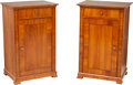 Furniture , A Pair of Biedermeier Cherry Side Cabinets, Prague, Czech Republic, 19th century. 34 h x 21-1/8 w x 16 d inches (86.4 x 53.7... (Total: 2 Items)