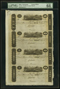 "Obsoletes By State:Ohio, Cincinnati, (OH)- (John H. Piatt & Company) $5-$3-$2-$1 18__Uncut Sheet ""James Monroe"" Post Notes. ..."