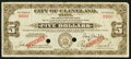 Obsoletes By State:Ohio, Cleveland, OH- City of Cleveland $5 Oct. 15, 1933 Specimen. ...
