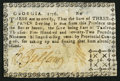 Colonial Notes, Georgia 1776 3d Very Fine.. ...