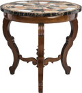 Furniture : Continental, A Regency-Style Center Table with Grand Tour Specimen Marble Top,19th century. 30-3/8 inches high x 32-1/8 inches ...
