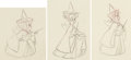 Animation Art:Production Drawing, Sleeping Beauty Three Fairies Animation Drawings Group of 3 (Walt Disney, 1959). ... (Total: 3 )