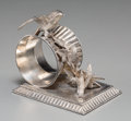 Silver Holloware, American:Napkin Rings, A Rockford Silverplate Co. Silver-Plated Figural Four Doves Napkin Ring. Marks: (various). 3-1/8 inches high (7.9 cm). ...