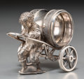 Silver Holloware, American:Napkin Rings, An American Silver-Plated Figural Boy with Wheelbarrow Napkin Ring, late 19th century. 2-5/8 inches high (6.7 cm). ...