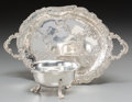 Silver Holloware, Continental, A Tuttle Silver Co. Silver Figural Dolphin Bowl with Storck &Sinsheimer German Silver Tray, circa 1890-1930. Marks: (variou...(Total: 2 Items)
