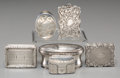 Silver Holloware, British:Holloware, Six English Silver Vinaigrettes, 18th century and later. Marks:(various). 1 h x 2 w x 1-1/4 d inches (2.5 x 5.1 ...