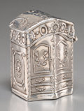 Silver Smalls:Match Safes, A Dutch Silver Snuff Box, circa 1895. Marks: (lion passant-2-key),L. 1-7/8 inches high (4.8 cm). 26 grams. ...