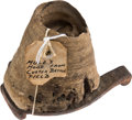 Western Expansion, US 7th Cavalry Mule Hoof and Iron Shoe with Old Bannerman's Tag....