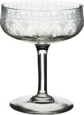 """Political:Presidential Relics, Theodore Roosevelt: 4.25"""" Tall White House Compote Glass...."""