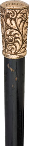 Advertising:Breweriana, Anheuser Busch: An Engraved 1887 Presentation Walking Stick....