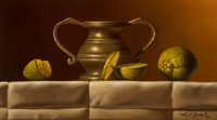 Loran Speck (American, 1943-2011) Still Life with Limes Oil on board 5-1/2 x 9-1/2 inches (14.0 x