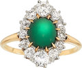 Estate Jewelry:Rings, Antique Turquoise, Diamond, Platinum, Gold Ring, J.E. Caldwell& Co.. ...