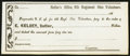 Obsoletes By State:Ohio, 6th Regiment Ohio Volunteers, OH- E. Kelsey, Sutler $__ 186_Remainder. ...