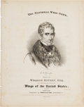 Political:Small Paper (pre-1896), William Henry Harrison: Pictorial Campaign Sheet Music....