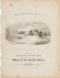 Political:Small Paper (pre-1896), William Henry Harrison: 1840 Pictorial Sheet Music....