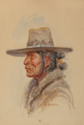 Works on Paper, Joe Beeler (American, 1931-2006). Navajo Man. Watercolor on board. 14 x 10 inches (35.6 x 25.4 cm). Signed lower right: ...