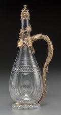 Silver & Vertu:Hollowware, A Gorham Gilt Silver and Cut-Glass Wine Ewer, Providence, Rhode Island, circa 1892. Marks: (lion-anchor-G), STERLING, S105...