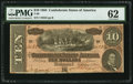 Confederate Notes:1864 Issues, T68 $10 1864 PF-42 Cr. 551.. ...
