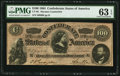 """Confederate Notes:1864 Issues, CT65/491 """"Havana Counterfeit"""" $100 1864. ..."""