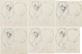 Animation Art:Production Drawing, Lady and the Tramp Peg Animation Drawings Series of 18 (Walt Disney, 1955). ... (Total: 18 Items)