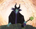 Animation Art:Color Model, Maleficent Color Model Cel with Custom Painted Background (Walt Disney, c. 1980s-90s). ...