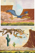"Animation Art:Poster, ""Road Runner"" and ""Wile E. Coyote"" Limited Edition Chuck JonesGiclee on Canvas Print Group FP #12/95 (Warner Brothers/Linda J...(Total: 2 Items)"