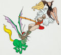 Animation Art:Production Cel, Dragon's Lair Dirk and Daphne Production Cel Group of 2 (DonBluth, 1983). ... (Total: 2 )