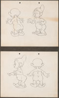 animation art:Model Sheet, Snow White and the Seven Dwarfs Dwarf Character DevelopmentDrawings Group of 2 (Walt Disney, 1937). ...