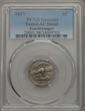 , 1837 1C Feuchtwanger Cent -- Damage -- PCGS Genuine. AU Details. PCGS Population: (38/383). ...