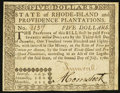 Colonial Notes:Rhode Island, Rhode Island July 2, 1780 $5 Fully Signed Choice About New.. ...