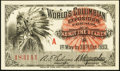 "Miscellaneous:Other, World's Columbian Exposition Indian ""A"" Ticket 1893 Choice CrispUncirculated.. ..."