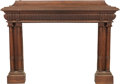 Furniture : French, A French Baroque-Style Carved Oak Fireplace Mantel, late 19th century. 52-1/4 h x 70 w x 26-1/4 d inches (132.7 x 177.8 x 66...
