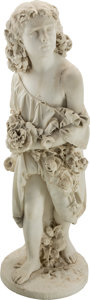 Fine Art - Sculpture, European:Antique (Pre 1900), Silverio Martinoli (Italian, 1830-1913). Furio in Giardino.Marble. 44 inches (111.8 cm) high. Signed and titled on base...