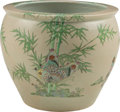 Asian:Chinese, A Large Chinese Porcelain Fishbowl Jardinière. 16-1/4 inches high x18-7/8 inches diameter (41.3 x 47.9 cm). ...